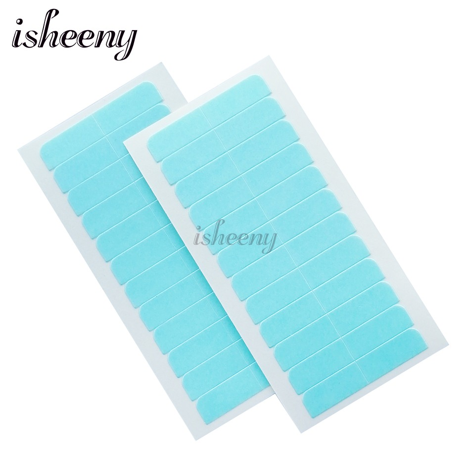 Isheeny Double-Side Adhesive Tape Tabs For Lace Wig/Closure/Tape Hair Ecological Super Stick Seamless Replacement Tape 5 Sheets