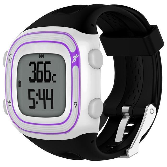 Correa de pulsera deportiva de silicona de 22 cm 25 cm para Garmin Forerunner 10 15 GPS Smartwatch banda de repuesto para mujeres y hombres