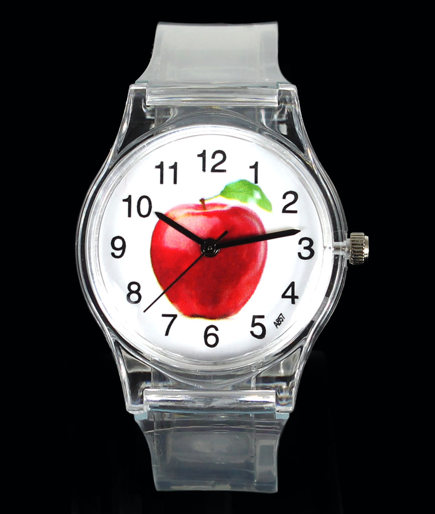 Apple Fruit Lemon Orange Sun Flower Sunflower Watermelon Strawberry Kids Children Student Gift Cartoon Sport Wrist