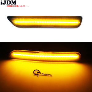 Image 5 - IJDM lámparas de señalización lateral delantera para Ford Mustang, luz LED blanca y ámbar de 27 SMD para Ford Mustang 2010 2014