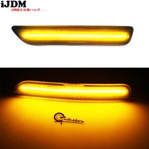 Image 5 - IJDM przydymione soczewki przednie boczne lampy obrysowe z 27 SMD bursztynowe/białe diody LED do 2010 2014 Ford Mustang przedni zderzak