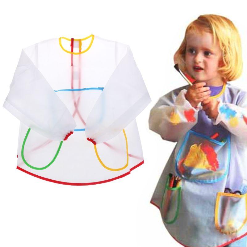 Gewijd Baby Schort Schilderen Jas Lange Mouw Keuken Educatief Waterdichte Jongens Meisjes Kids Kinderen Bakkerij Art Leren Kiel Kok