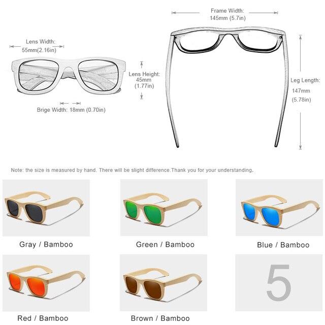 KINGSEVEN 2019 Handmade Bamboo Sunglasses Men Retro Vintage Wood Sun Glasses Women Polarized Mirror Coating Lenses Eyewear Case Women's Glasses