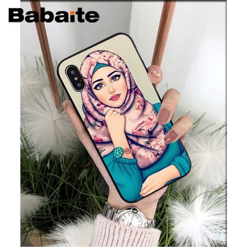 Babaite хиджаб красивый мусульманский женский черный мягкий чехол для телефона iPhone X XS MAX 6 6 S 7 7 plus 8 8 Plus 5 5S XR