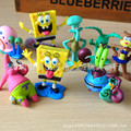 8pcs Sponge baby Bob high quality beautiful figure sets as decorations in the fish tank or on the cake toys