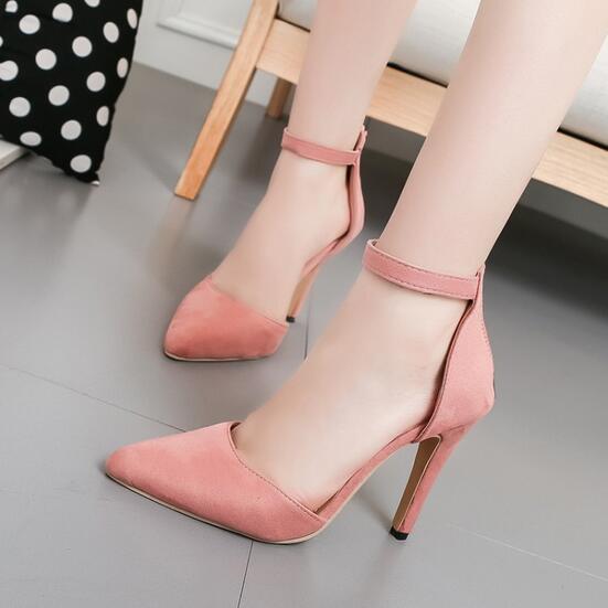 Punta 2017 Black pink 40 Altos Para Sexy Mujer Estrecha Tacones green Tamaño Aa0382 Moda 42 Bombas blue Abrochado 41 Zapatos Nueva fxFxqwCY