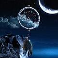 Verificação de Presente Dreamcatcher Dream Catcher Net Com pedras naturais Penas Ornamento de Suspensão Decoração Da Parede
