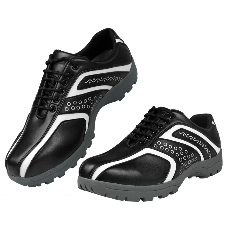 Professional Golf Shoes for Men Waterproof Lace Up Sport Shoes Rubber Bottom Anti-Slip Shockproof Training Shoes D0605Professional Golf Shoes for Men Waterproof Lace Up Sport Shoes Rubber Bottom Anti-Slip Shockproof Training Shoes D0605