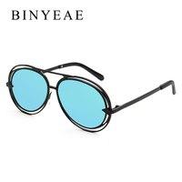 BINYEAE 2017 New Beyond Star Women Aviator Sunglasses Men Hollow Wire Design Brand Sunglasses Fashion Style