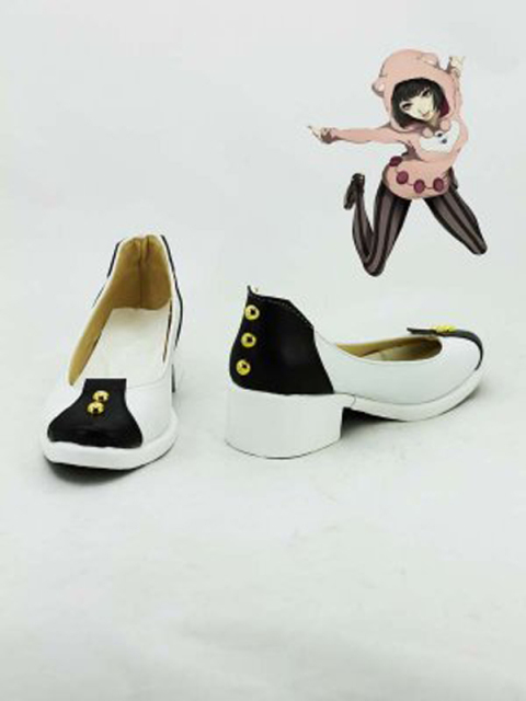 JOJO's Bizarre Adventure Black & White Cosplay Boots Shoes Women Cosplay Costume Party Shoes Custom Made Boots