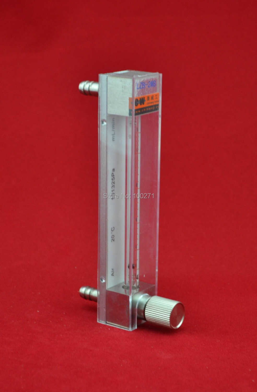 лучшая цена LZB -2F,all stainless steel glass rotameter flowmeter with control valve for liquid and gas. conectrator ,it can adjust flow