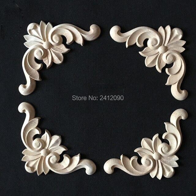 755 Aliexpresscom Comprar Apliques De Madera Decorativos De 2 Piezas Antiguos Para Decoración De Muebles Puerta De Armario Molduras De Madera