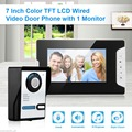 "Wired 7"" TFT LCD Video Doorbell Phone Intercom Home Security Doorbell Cameras"