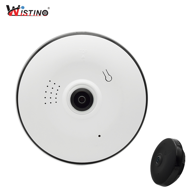 Wistino 960P Wireless IP Camera VR Fisheye Baby Monitor WIFI 360Degree CCTV Security Video Mini Camera Surveillance Night Vision цена