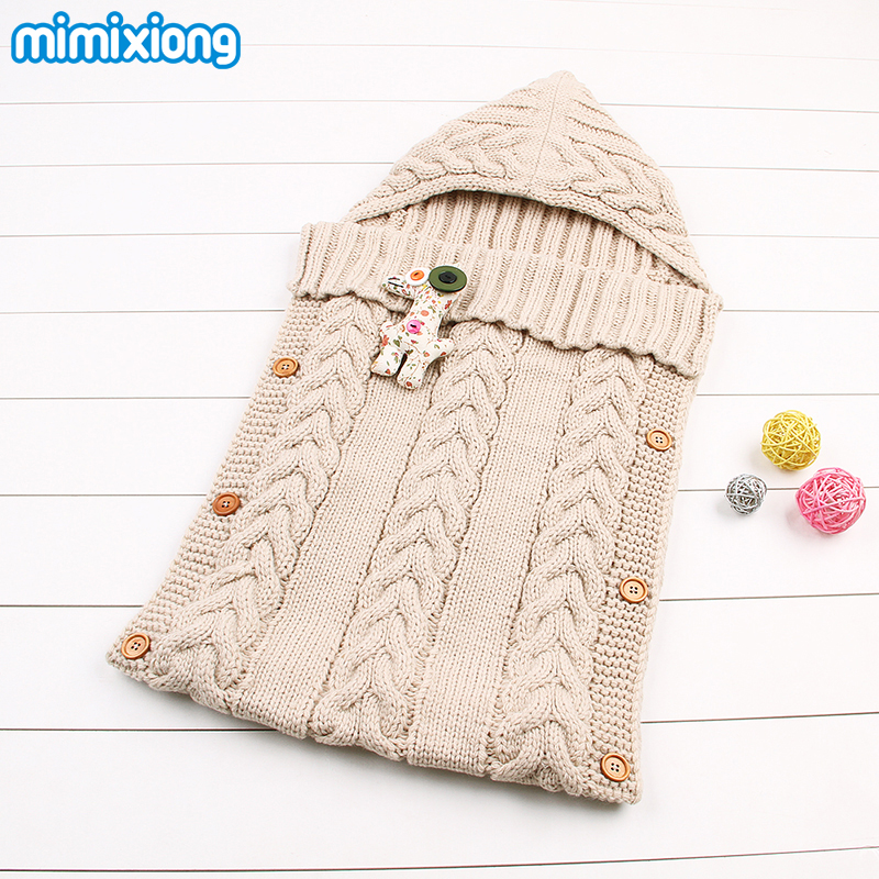 Winter-Thermal-Sleeping-Bags-For-Baby-Autumn-Newborn-Sleep-Sack-Hand-Knitting-Infant-Stroller-Swaddle-Wrap-Blankets-Super-Soft-3