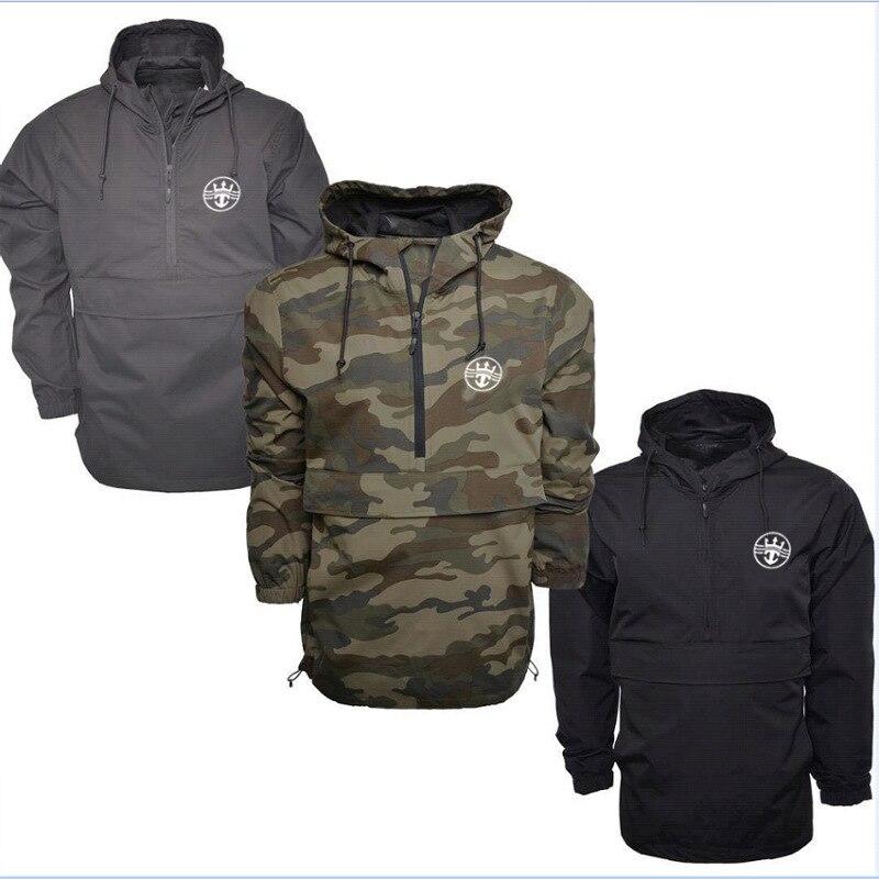 2019 Men Camouflage Hoodies Sweatshirt Mens Moletom Autumn Waterproof Pullover Tops Loose Male Hooded Tracksuit
