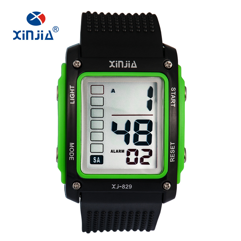 XINJIA Fashion Big Number Casual Sport Digitale Horloges voor Mannen Kinderen Outdoor Running 30 m Waterdichte Militaire Kids Fitness