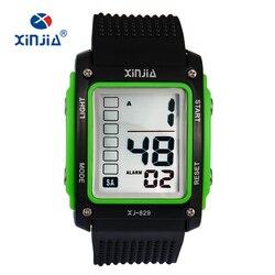 XINJIA Fashion duże cyfry Casual sport cyfrowe zegarki dla mężczyzn dzieci Outdoor Running 30m wodoodporny wojskowy Fitness dla dzieci|Zegarki cyfrowe|Zegarki -