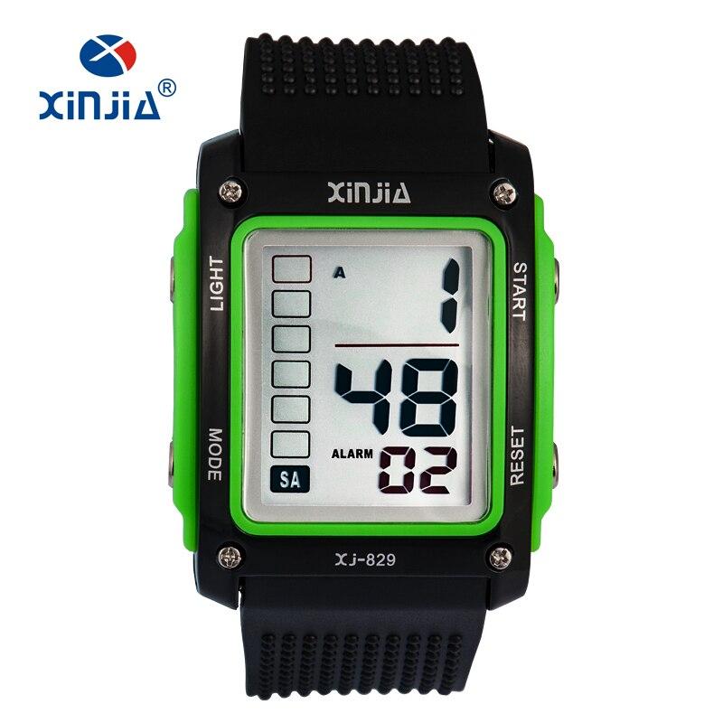 Xinjia moda número de big casual deportes relojes digitales para hombres niños a