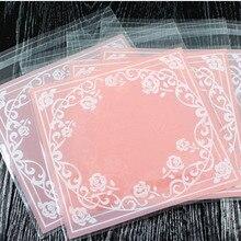 50 ชิ้น/ล็อต 10*10 ซม.เบเกอรี่บรรจุภัณฑ์ถุงขนมขบเคี้ยวขนมCandyงานแต่งงานของขวัญอาหารคุกกี้CandyถุงพลาสติกOPP 8Z
