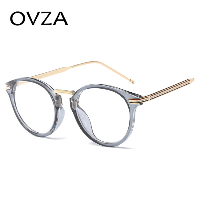 b81fdbc2e69 OVZA 2018 Oval Glasses Frames Women Ultra-light TR90 Optical Frame Men High  Quality Fashion Reading Glasses Transparent S9064
