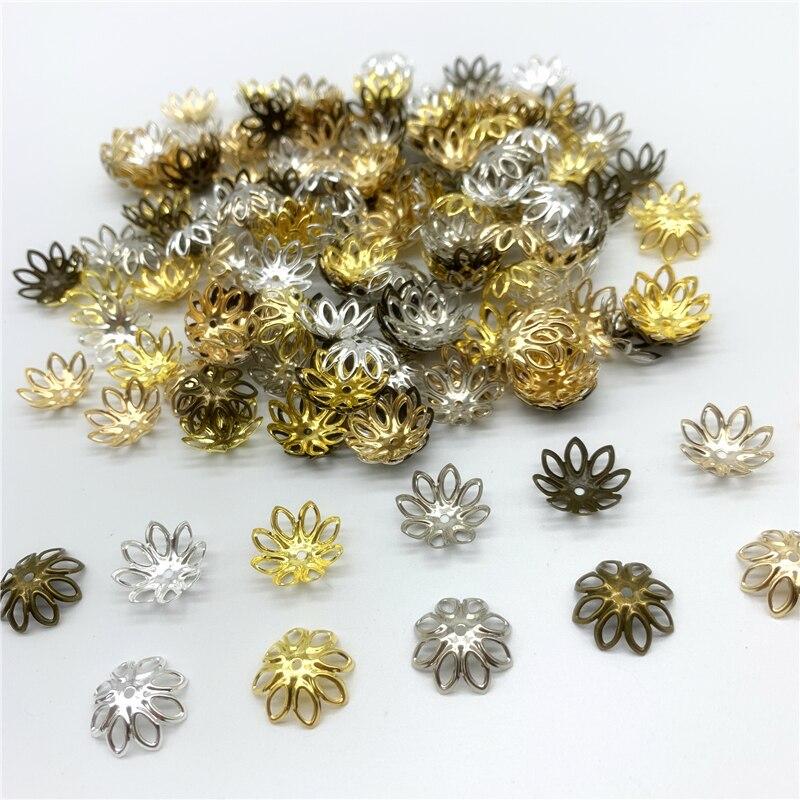 100pcs 10 mm 12 mm MIX COULEUR blanc à pois en bois naturel Spacer Beads Jewelry Findings
