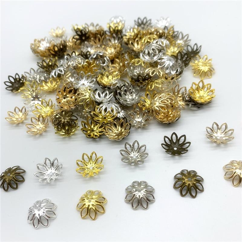20x Pink Czech Glass Loose Beads Flower Cap End Spacer Beads Accessories LOT