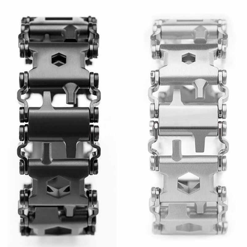 Pulsera de supervivencia para hombre, nueva herramienta de acero inoxidable de alta calidad, pulsera portátil 29 en 1, Kit de emergencia multifunción para exteriores