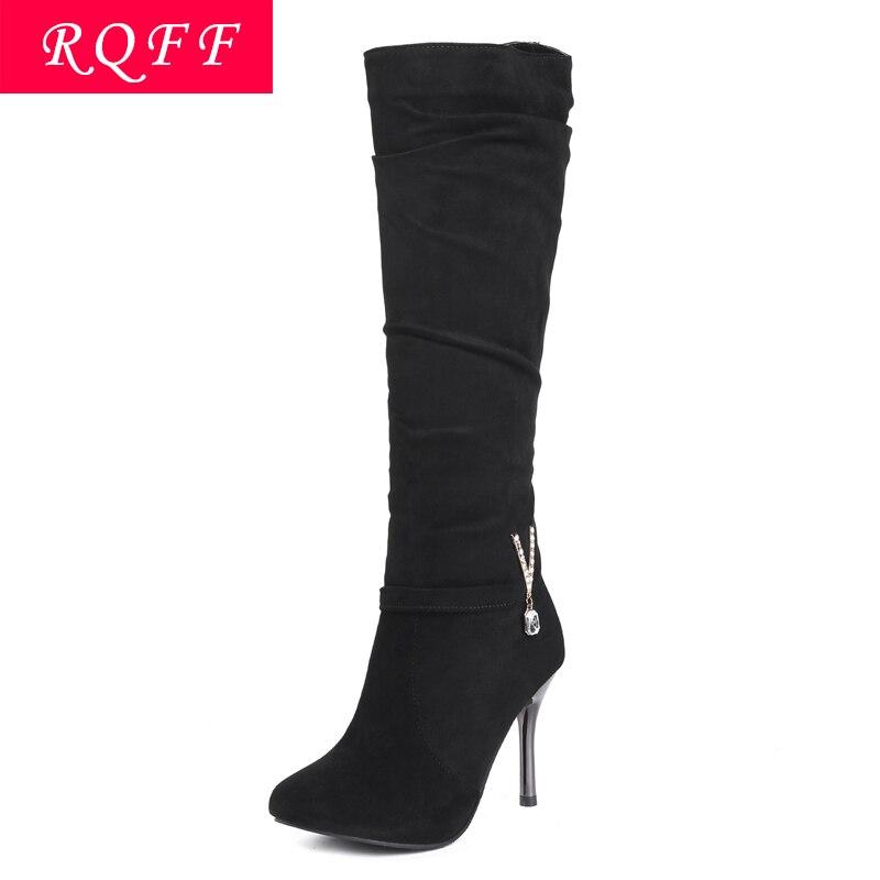 43 Boîte D'hiver De Shoes Dames Size34 Women Beige Cuisse Marque black Flock Peluche Femmes Femelle Women Chaussures Boot Rqff Genou Bootsplus Avec Bottes Haute Femme P4FnqH