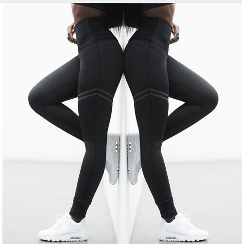 fb31dbe2cf Mouse over to zoom in. High Elastic Fitness Sport Leggings Tights Slim  Running Sportswear Sports Pants Women Yoga Pants Quick Drying ...