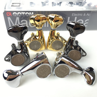 Original L3+R3 GOTOH SGV510Z S5 Electric Guitar Machine Heads Tuners ( Chrome Silver Cosmo Black Gold ) Tuning Peg MADE IN JAPAN