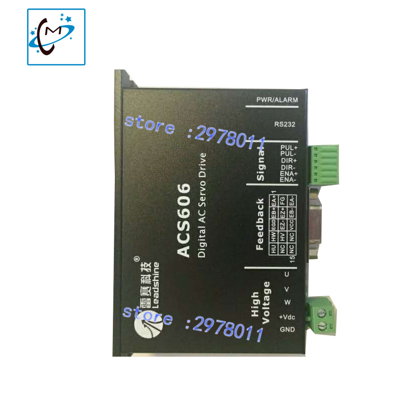 wholsale 1 PC leadshine ACS606 digital AC servo motor driver for Allwin Myjet zhongye Muoth inkjet printer used 100% tested mcdht3520e ac servo drive mcdht3520e for pan servo driver mcdht3520e