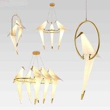 Origami Blanco moderno Luz Colgante De Salón Dormitorio Creativo Nordic Lámpara Colgante de Lámparas de Iluminación del Hogar