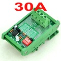 Montaje En Carril DIN Módulo de Desconexión por Bajo Voltaje LVD, 12 V 30A, sobre la base de MCU-MOSFET.