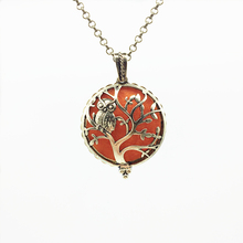 1pc Antiqued Bronze Creative Owl Tree Design Copper Magnet Locket Essential Oil Aroma Diffuser Trendy Pendant Necklace Jewelry