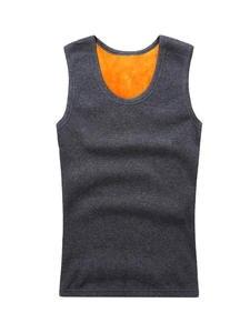 Warm Sweater Thermal-Underwear Velvet Men's Vest Round-Neck New-Fashion Plus Slim Stretch