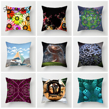 Fuwatacchi Geometric Cushion Cover Mixed Color Circle Pillow Cover For Home Sofa Chair Car Decorative Pillowcases 45cm*45cm цена