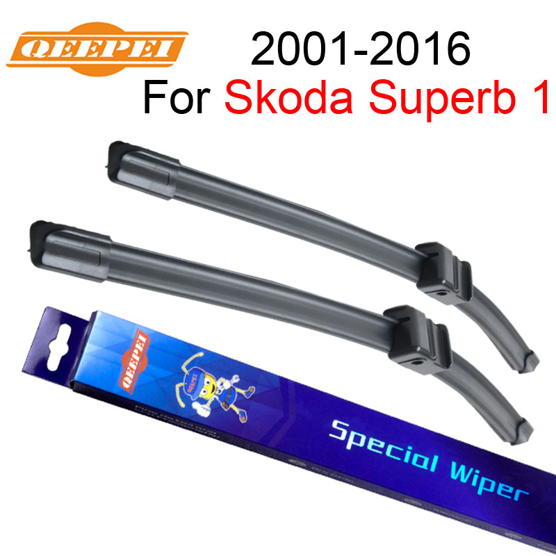QEEPEI Wiper Blade For Skoda Superb 1 2001-2016 21+21A High Quality Iso9000 Natural Rubber Clean Front Windshield CPA103