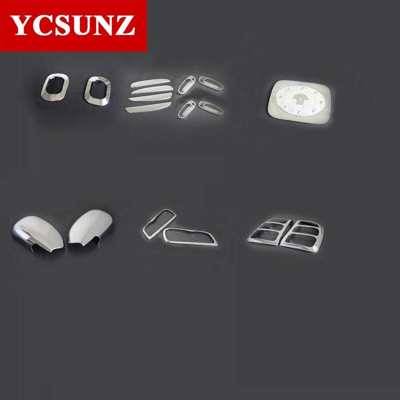 Kits chromés pour Toyota Rav4 1996-2000 voiture Rav4 pièces Protection de la lumière garniture de jante de lampe latérale pour Toyota Rav 4 1997 1998 1999 Ycsunz