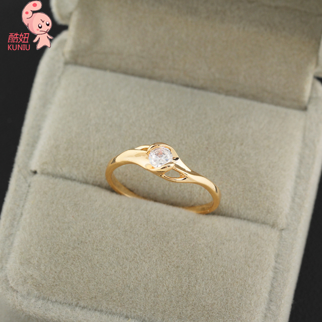 Pure and fresh design Gol d Plated Fashion Rings For beautiful