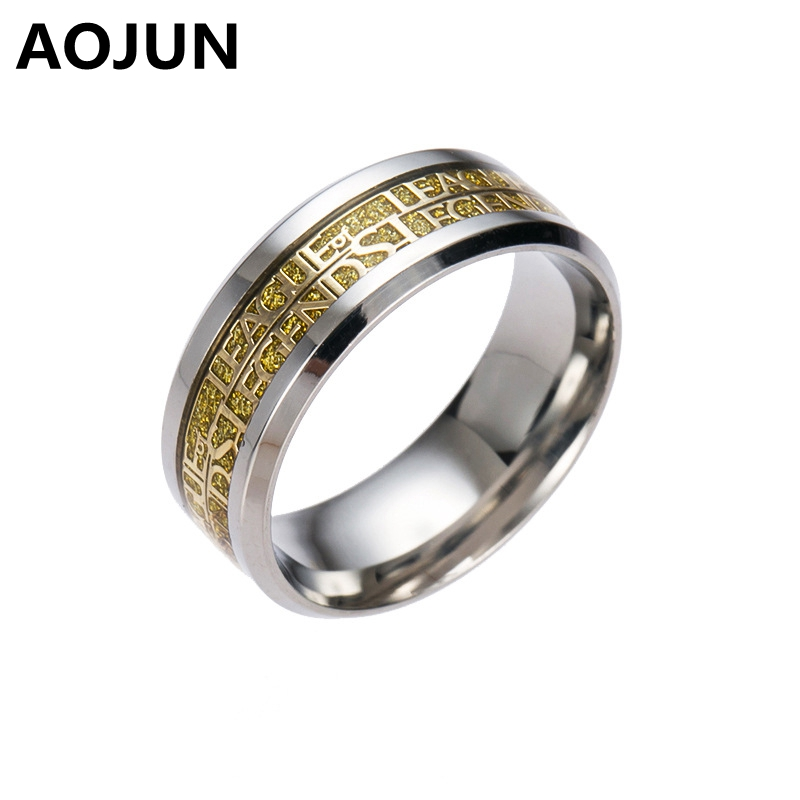 League of Legendes Stainless Steel Man Ring Hot Online Game LOL Gold Silver Black Titanium Ring Men Women Wedding Jewelry Gift