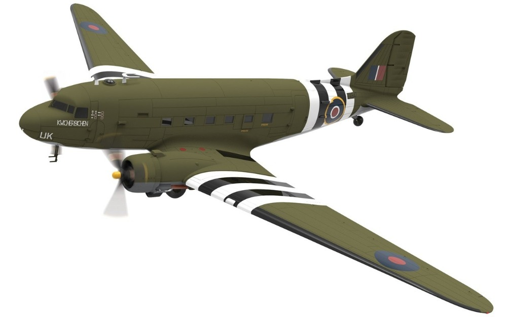 C GI 1/72 C-47 air train transport plane AA38208 Alloy collection model Holiday gift av72 1 72 the british ah 1 gulf war av7224005 gazelle helicopter alloy collection model holiday gift