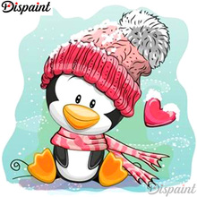 Dispaint Full Square/Round Drill 5D DIY Diamond Painting Cartoon penguin 3D Embroidery Cross Stitch Home Decor A12510