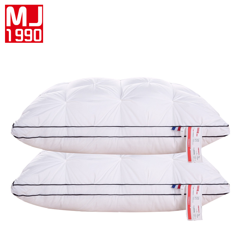 100% Cotton Material Satin Pillow Bread Twisted Flowers Pillows High Elasticity Neck Comfort Adult Pillow Hotel Healthy Sleep Strong Packing