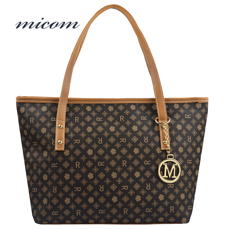 Micom Printed Bag Female Luxury Handbags Women Bags Designer Shoulder Bags Women High Quality Leather Hand Bag Bolsa Feminina qweek luxury handbags women bags designer 2017 pu leather shoulder bag female printing bolsa feminina mini flap crossbody bags