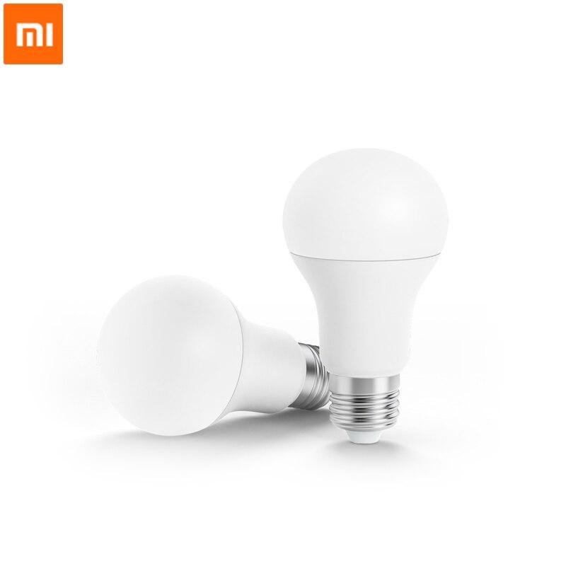 imágenes para Original Xiaomi Philips Bombilla LED Inteligente Lámpara de La Bola WiFi Remoto APP de Control por Xiaomi mi Casa Estándar E27 Bombilla 6.5 W 0.1A