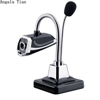 New USB Microphone Desktop HD Webcams Web Cam Camera Built In Night LED Lights For Computer