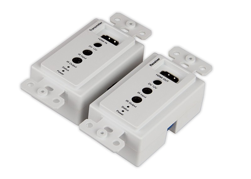 5pcs/lot DHL 50M Single Cat5e 6 HDMI Wall Plate Two-way IR Remote Extender with bi-direction IR support Ethernet RJ45 3D 1080P 5pcs lot irf9520 irf9520 to 220ab ir n channel 100