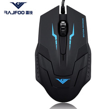 True RAJFOO I5 Wired USB Nonluminous and Luminous Mouse for Business Entertainment font b Gaming b