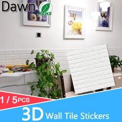 5 шт. 3D Наклейка на стену s мраморный кирпич Водонепроницаемая настенная бумага самоклеящийся Декор Фон для детской комнаты гостиная